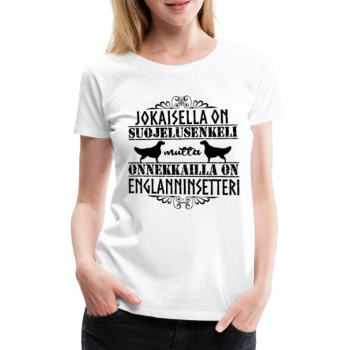 Englanninsetteri Enkeli II - Naisten premium t-paita