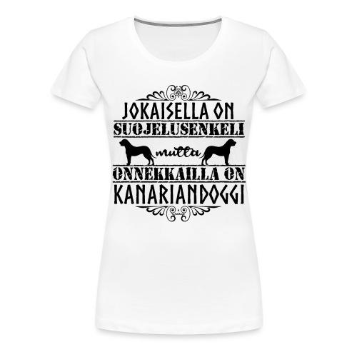 Kanariandoggi Enkeli II - Naisten premium t-paita