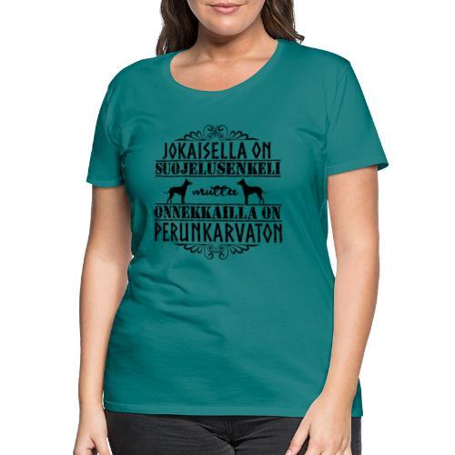 Perunkarvaton Enkeli II - Naisten premium t-paita