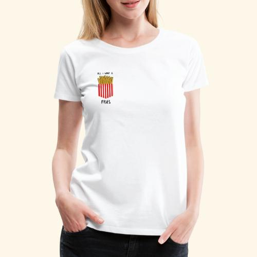 fries in pocket - Frauen Premium T-Shirt