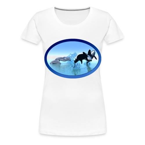 Dolfijnen en Orka's - Vrouwen Premium T-shirt