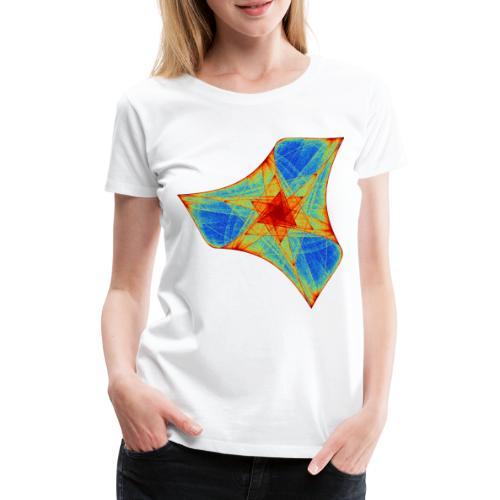 Bunter Bumerang Seestern Meerestier 12117j - Frauen Premium T-Shirt