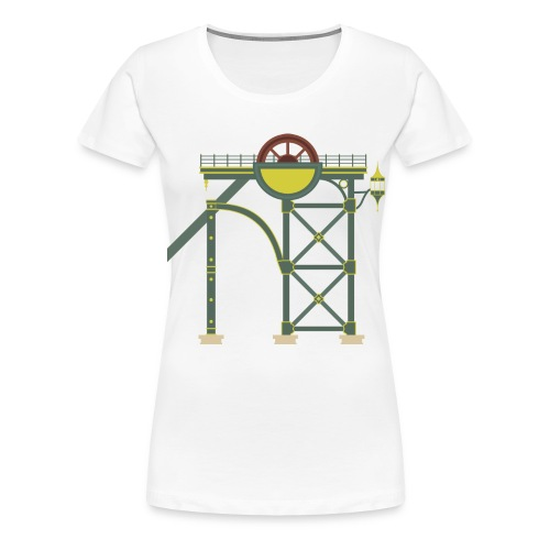 Themepark Mine Tower - Women's Premium T-Shirt