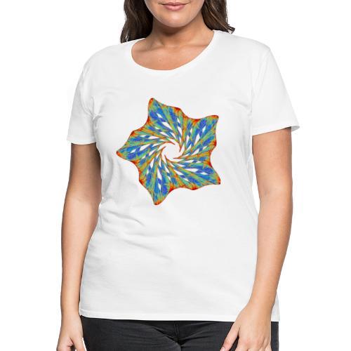 Bunter Seestern mit Dornen 9816j - Frauen Premium T-Shirt