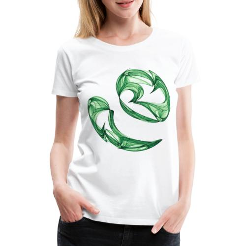 Unequal pair of green twins in the wind 7761alg - Women's Premium T-Shirt
