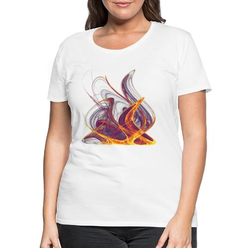 Kaminfeuer Lagerfeuer Flammengezüngel Feuer 12435i - Frauen Premium T-Shirt