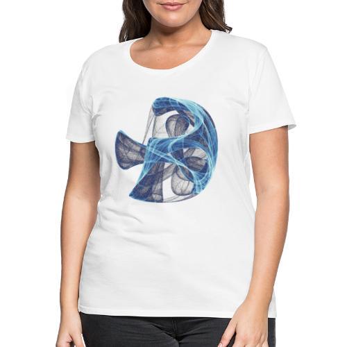 Aquarell Kunstgrafik Gemälde Bild Chaos 13834 ice - Frauen Premium T-Shirt
