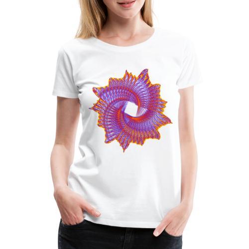Spiral fan ammonite prehistoric animal fossil 11912bry - Women's Premium T-Shirt