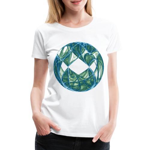 Harmonie im Ozean der Elemente 446oce - Frauen Premium T-Shirt