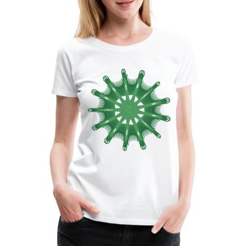 grünes Steuerrad Grüner Seestern 9376alg - Frauen Premium T-Shirt