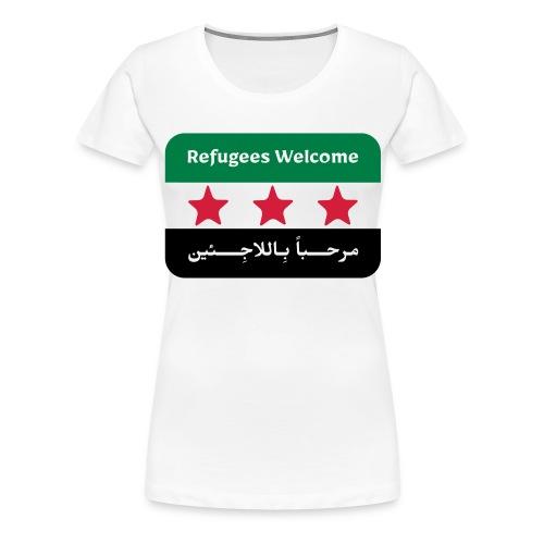 Refugees Welcome - Women's Premium T-Shirt