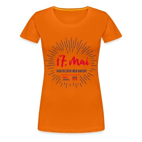 17. mai T-skjorte - Det norske plagg - Premium T-skjorte for kvinner