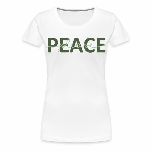 Peace please - Premium-T-shirt dam
