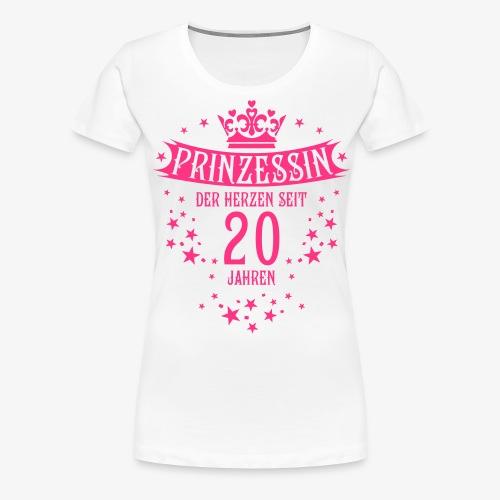 15 Prinzessin der Herzen seit 20 Jahren Geburtstag - Frauen Premium T-Shirt