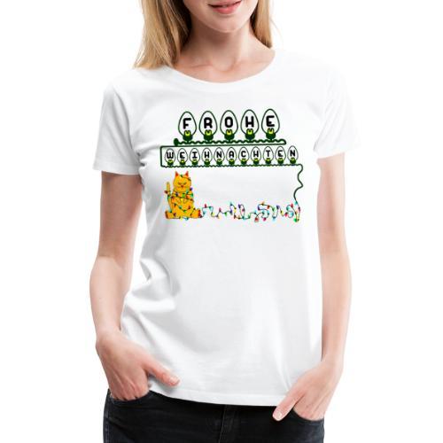 Frohe Weihnachten Lichterkette Merry Christmas - Frauen Premium T-Shirt