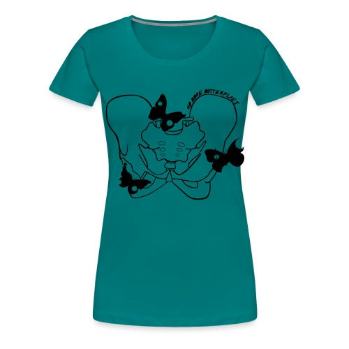 No more butterflies - Frauen Premium T-Shirt