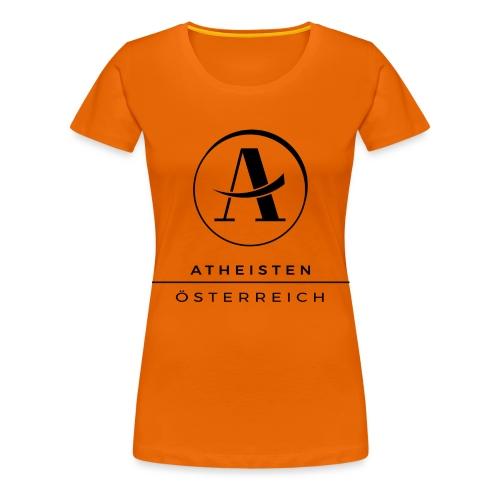 Atheisten Logo Schwarz - Frauen Premium T-Shirt