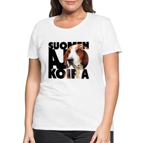 Suomenajokoira II - Naisten premium t-paita
