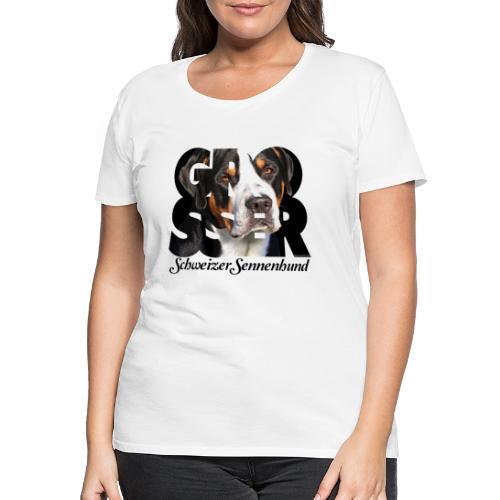 Grosser Schweizer Sennenhund Dark - Naisten premium t-paita