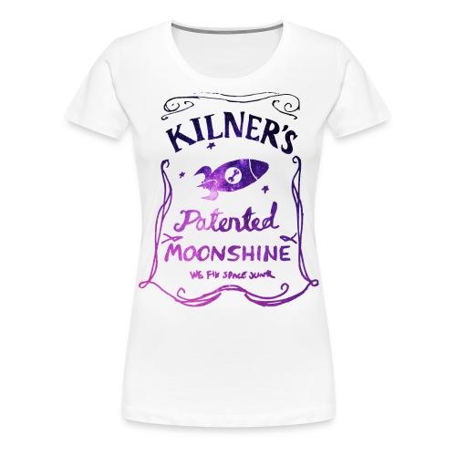 Kilner's Patented Moonshine (Stars Outline) - Women's Premium T-Shirt