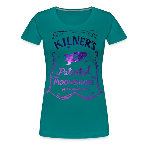 Kilner's Patented Moonshine (Stars Outline) - Women's Premium T-Shirt