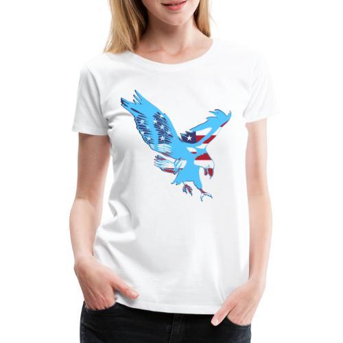 4 luglio, aquila e bandiera a stelle e strisce - Maglietta Premium da donna