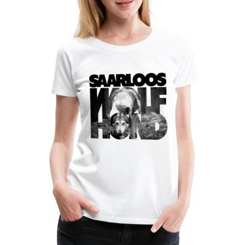Saarloos Wolfhond III - Naisten premium t-paita