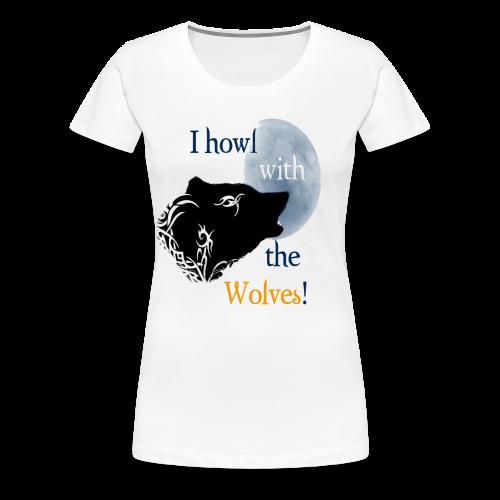 Wolf howl - Frauen Premium T-Shirt