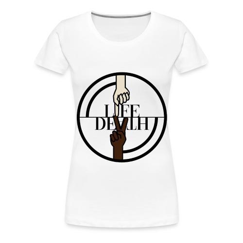 Original Life//Death 2018 logo - Vrouwen Premium T-shirt