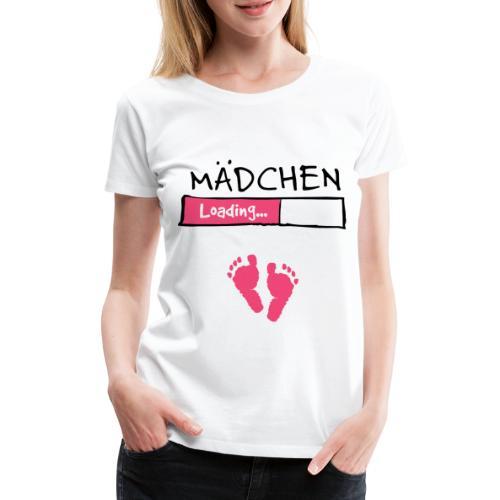 Mädchen loading // Schwangerschaft T-Shirt - Frauen Premium T-Shirt