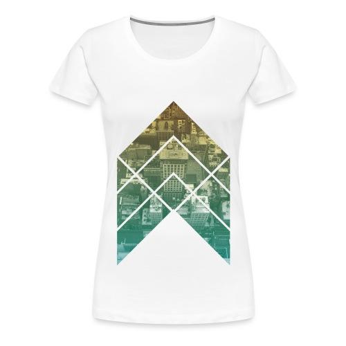 rooftop arrow - Frauen Premium T-Shirt