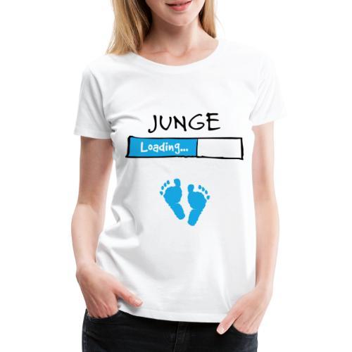 Junge loading // Schwangerschaft T-Shirt - Frauen Premium T-Shirt