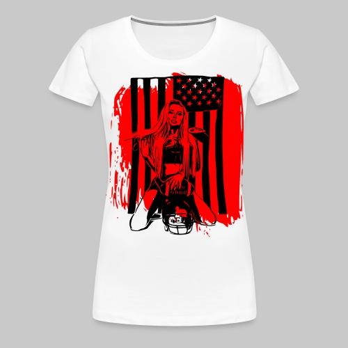 2reborn sexy american football game girl play bl - Frauen Premium T-Shirt