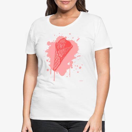 2reborn Pink Eat ICE CREAM Eis Ice Eiscreme red - Frauen Premium T-Shirt