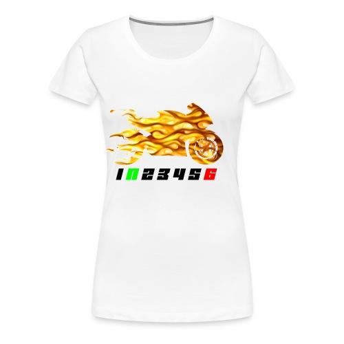 Mototrcycle flames - Women's Premium T-Shirt