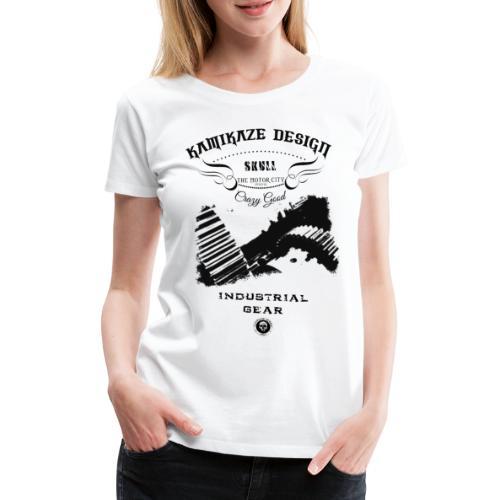 Skull Industrial gear - Frauen Premium T-Shirt