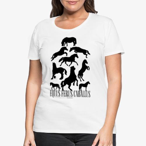Equus Ferus Caballus Black - Naisten premium t-paita