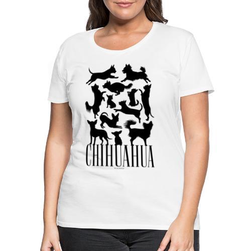 Chihuahua Black - Naisten premium t-paita