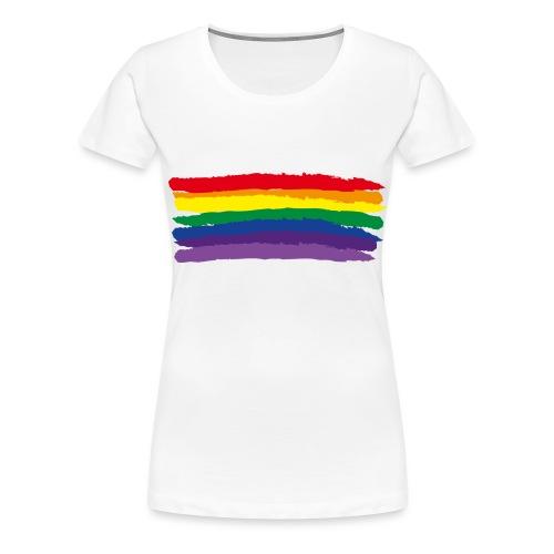 Rainbow Flag & colors - Women's Premium T-Shirt