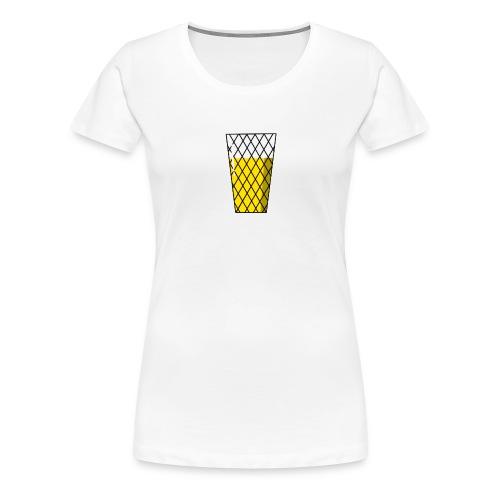 Apfelweinglas. Geripptes. - Frauen Premium T-Shirt