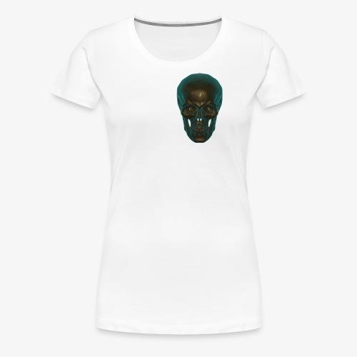 Totenkopf Blau Schwarz - Frauen Premium T-Shirt