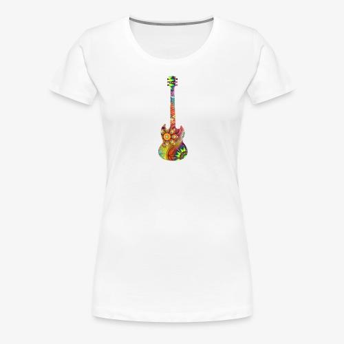psychedelisches Schattenbild Gitarre - Frauen Premium T-Shirt