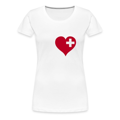 swiss heart red - Frauen Premium T-Shirt
