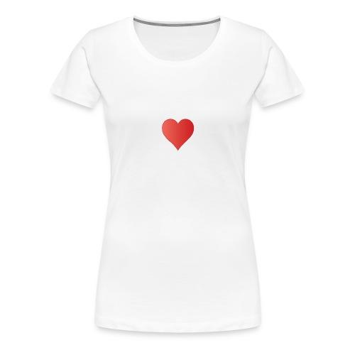 2000px-SuitHearts - Frauen Premium T-Shirt