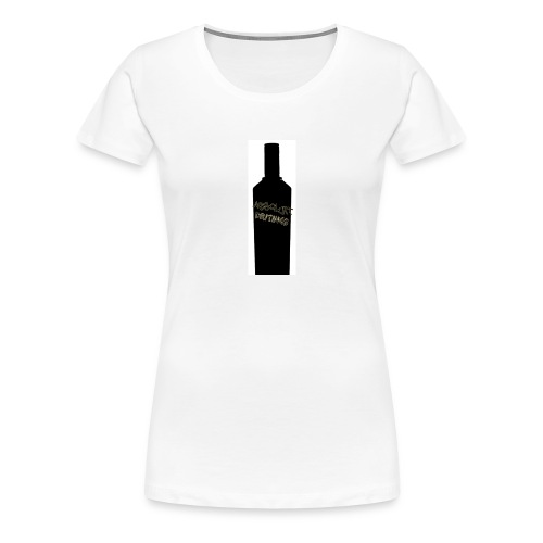 flaske forran - Premium T-skjorte for kvinner