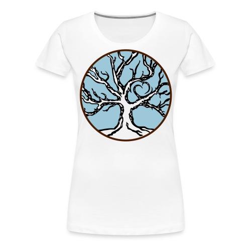 Lebensbaum Keltischer Baum mit Herz - Frauen Premium T-Shirt