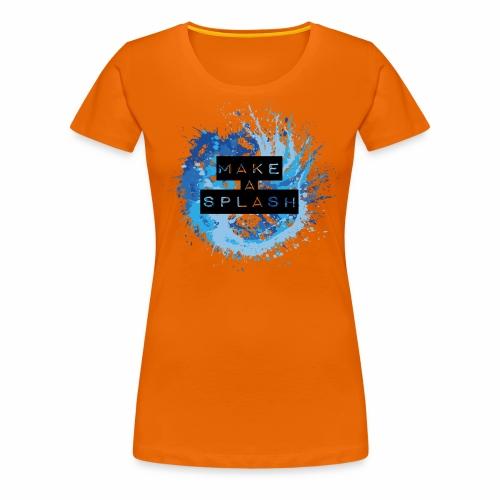 Make a Splash - Aquarell Design in Blau - Frauen Premium T-Shirt
