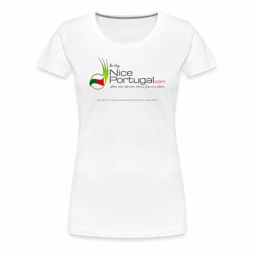 NicePortugal.com Logo - Maglietta Premium da donna