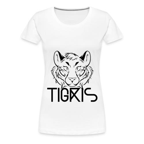 Tigris Logo Picture Text Black - Women's Premium T-Shirt