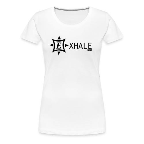 Exhale 10K White - Women's Premium T-Shirt